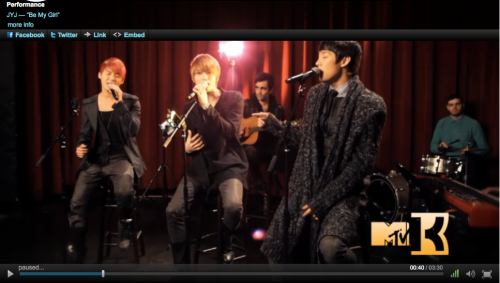 JYJ Be My Girl Acoustic